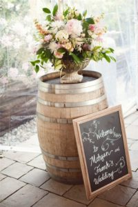 whiskey barrel welcome